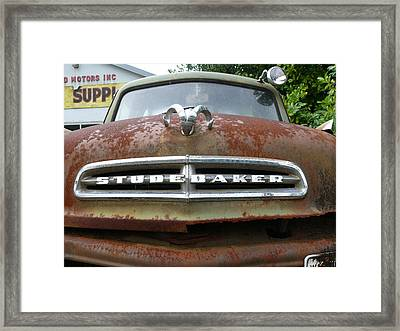 Framed Print featuring the photograph Variegated Studebaker by Joel Deutsch