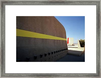 Varini And Le Corbusier  Framed Print