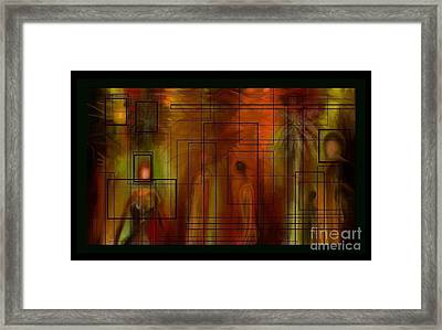 Framed Print featuring the painting Various People by Rushan Ruzaick