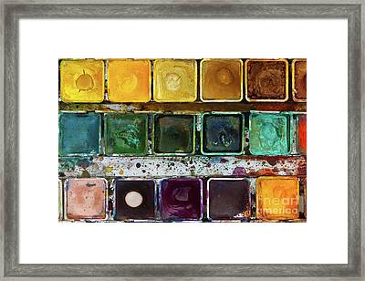 Various Watercolor Pigments In The Color-saucer Framed Print