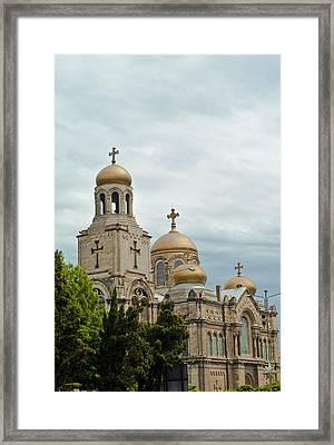 Varna Cathedral,bulgaria Framed Print by Boyan Dimitrov