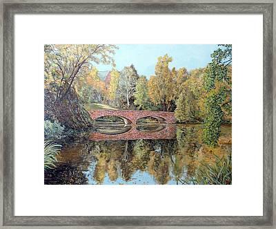 Varsity Lake Bridge Cu Boulder  Framed Print by Tom Roderick