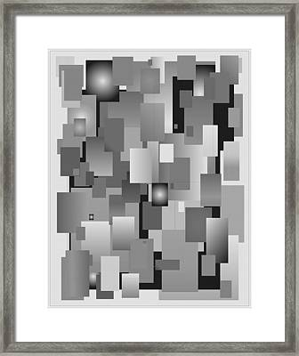 Framed Print featuring the digital art Vas 8 Black And White by John Norman Stewart