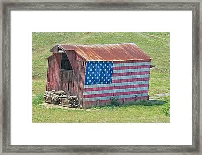 Vasco Flag Barn Framed Print