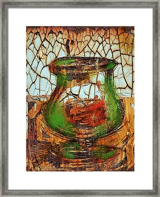 Vase And Candle Framed Print by Russell Pierce