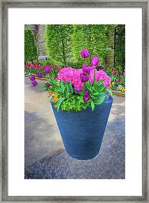 Vase And Flowers Series 05 Framed Print
