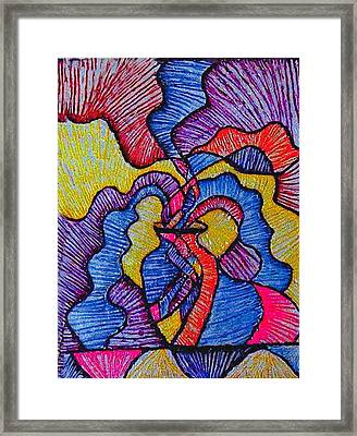 Vase Of Air Framed Print by Brenda Adams