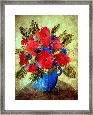 Framed Print featuring the painting Vase Of Delight-still Life Painting By V.kelly by Valerie Anne Kelly