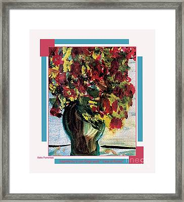 Vase Of Flowers Framed Print by Aleksandra Pomorisac