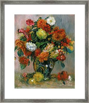 Vase Of Flowers Framed Print by Pierre Auguste Renoir