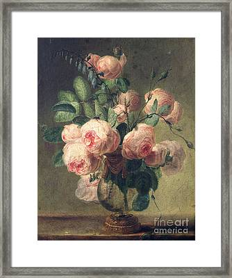 Vase Of Flowers Framed Print by Pierre Joseph Redoute