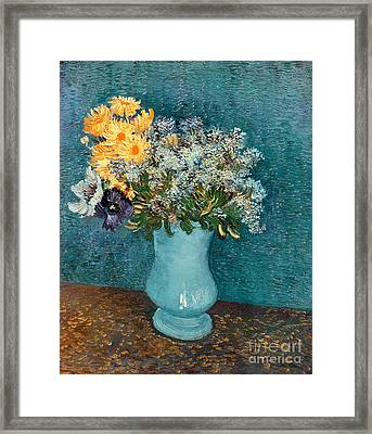 Vase Of Flowers Framed Print by Vincent Van Gogh
