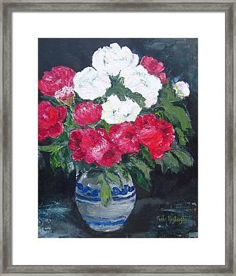 Vase Of Peonies Framed Print