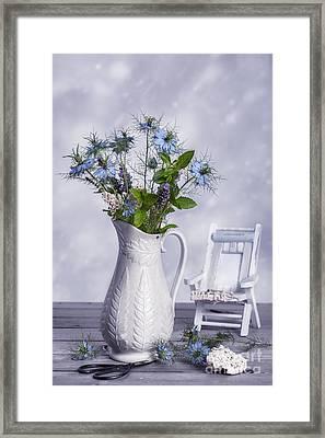 Vase Of Wild Flowers Framed Print