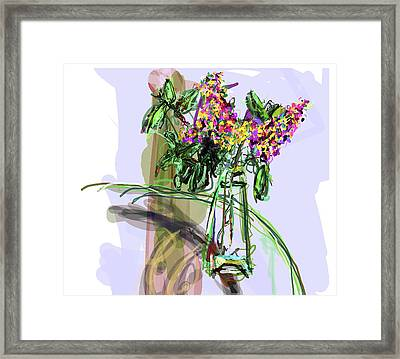 Vase Placed Well By Beth Framed Print by James Thomas