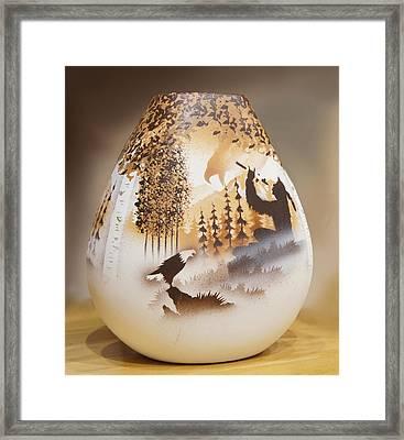 Vase Framed Print by Art Spectrum