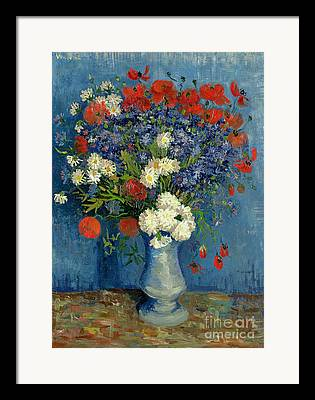 Still-life With Flowers Framed Prints