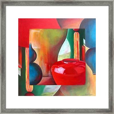 Vases Framed Print by Muriel Dolemieux
