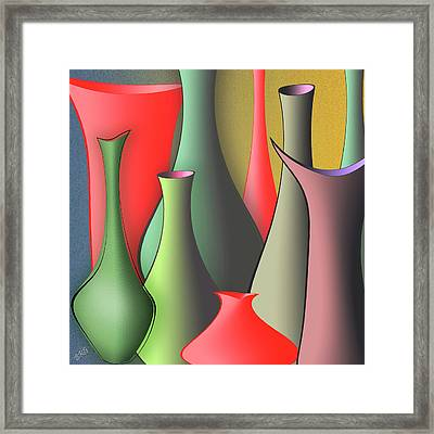 Vases Still Life Framed Print by Ben and Raisa Gertsberg