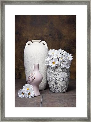 Vases With Daisies II Framed Print by Tom Mc Nemar