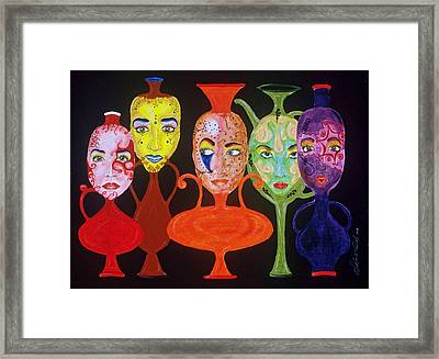 Vases With Faces Framed Print by Shellton Tremble
