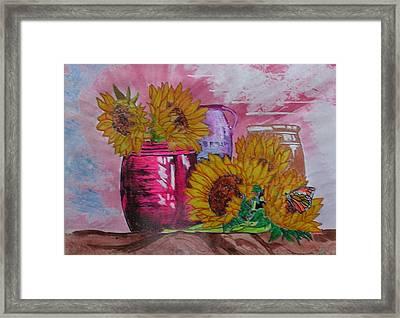 Vases With Flowers Framed Print by John Vandebrooke