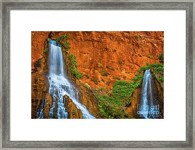 Vaseys Paradise Twin Falls Framed Print