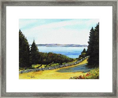 Framed Print featuring the painting Vashon Island by Marti Green