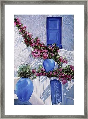 Vasi Blu Framed Print by Guido Borelli
