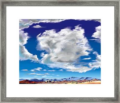 Vasquez Cloud Framed Print by Steve Beaumont