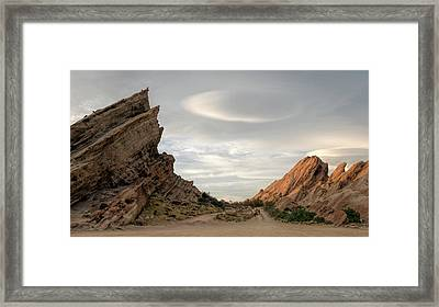 Vasquez Rocks Late Afternoon Framed Print by Michael Hope