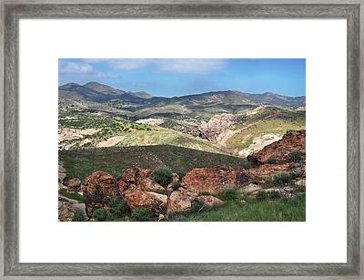 Vasquez Rocks Park Framed Print by Kyle Hanson