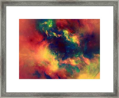 Vast Cosmos Abstract Framed Print