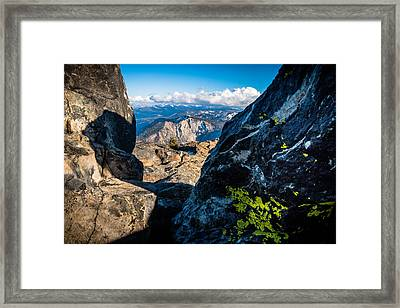 Vastly Majestic High Sierras Framed Print by Mike  Herron