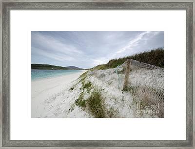 Vatersay Beach Framed Print by Nichola Denny