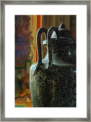 Framed Print featuring the photograph Vatican Ancient Jar by Michael Flood