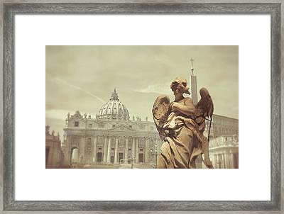 Vatican Angel Framed Print by JAMART Photography