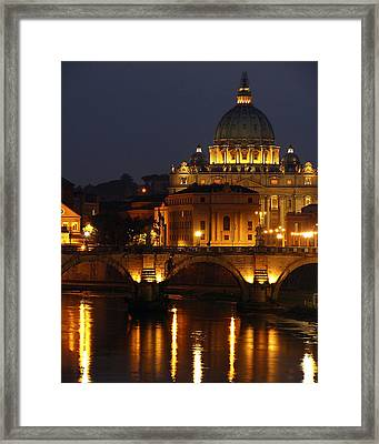 Vatican At Night Framed Print by Don Wolf