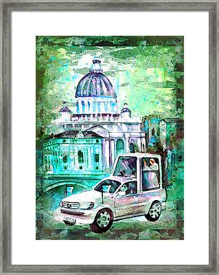 Vatican Authentic Madness Framed Print by Miki De Goodaboom