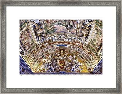 Vatican Ceiling Fresco Framed Print