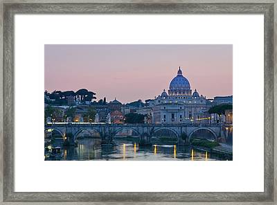 Vatican City At Sunset Framed Print