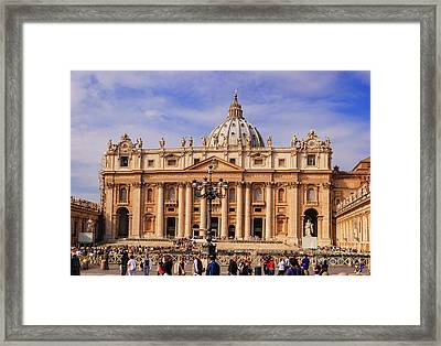 Vatican City - Saint Peter's Basilica Framed Print