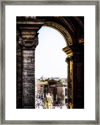 Vatican City - The Arch View Framed Print