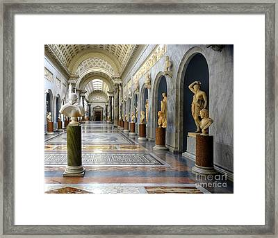 Vatican Museums Interiors Framed Print by Stefano Senise