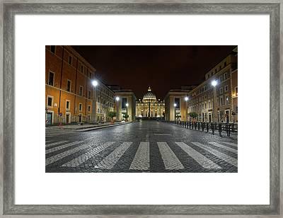 Vatican Walk Framed Print by Brian Kamprath