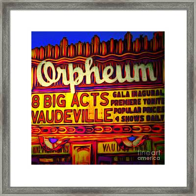Vaudeville Night At The Orpheum Theater 20151222 Square Framed Print
