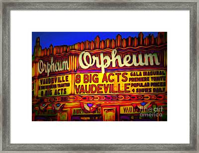 Vaudeville Night At The Orpheum Theater 20151222 Framed Print
