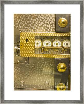 Vault Door Timing Device Framed Print by Adam Crowley