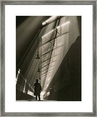 Vaulted Ceiling Of The Historic La Framed Print