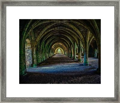 Vaulted, Fountains Abbey, Yorkshire, United Kingdom Framed Print
